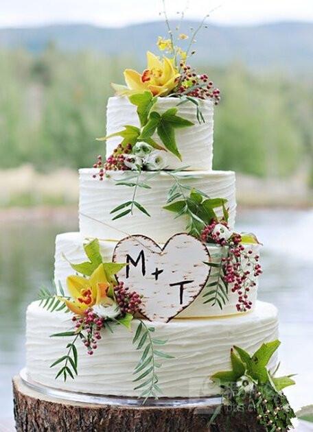 小清新森系婚礼蛋糕